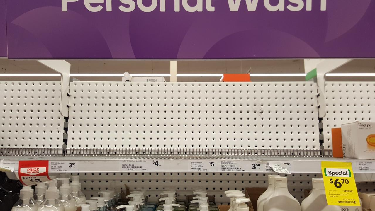 Supermarkets and chemists across Australia have been stripped bare of a 'key' item that stops the coronavirus from spreading as people 'panic'.