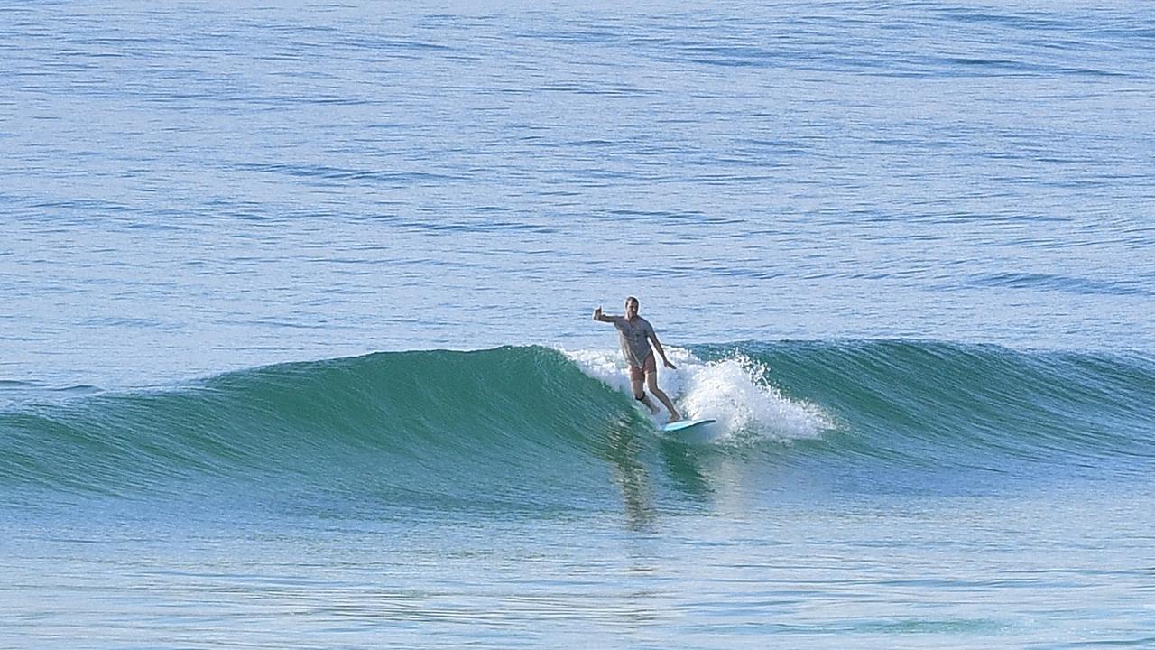 Wave of the day at The Pocket, Kawana at 7.30am February 27. Photo: John McCutcheon / Sunshine Coast Daily