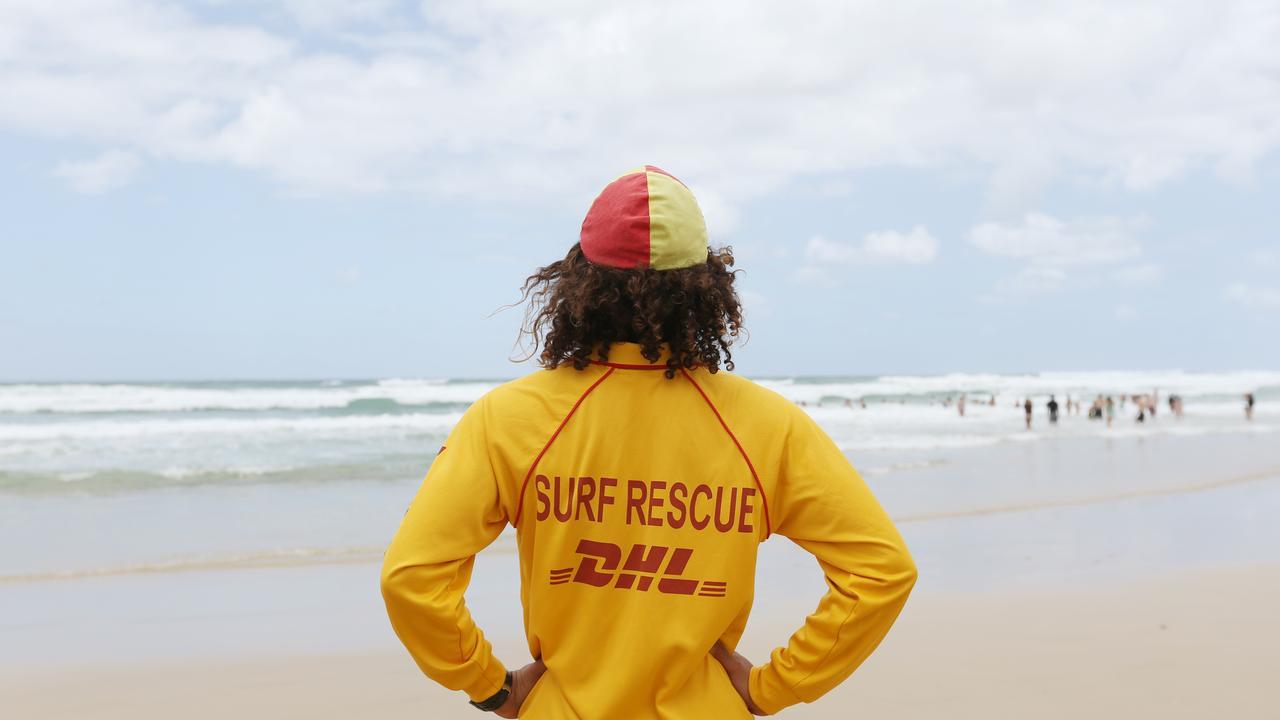 Life saver with red and yellow lifesaving cap. Picture: Brendan Radke.