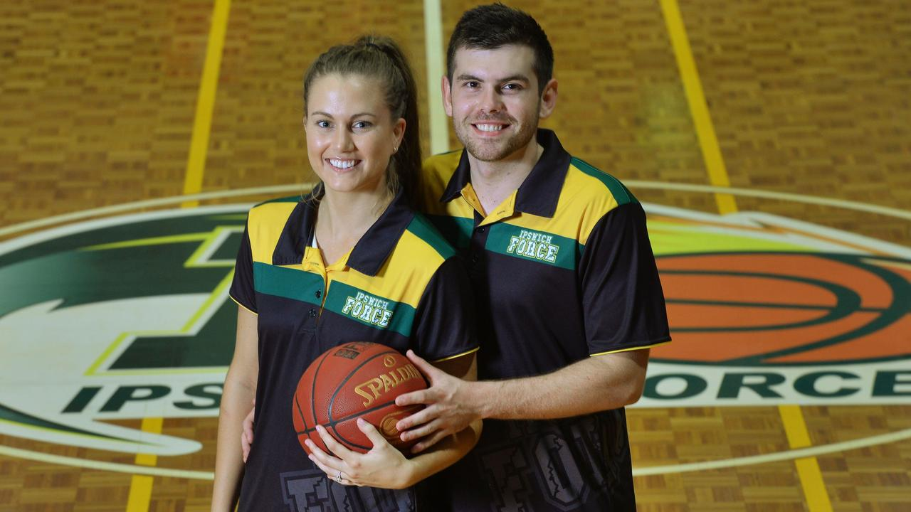 TERRIFIC TEAM: Ipswich Force basketballers Jason and Georgia Ralph help each other on and off the court. Picture: David Nielsen