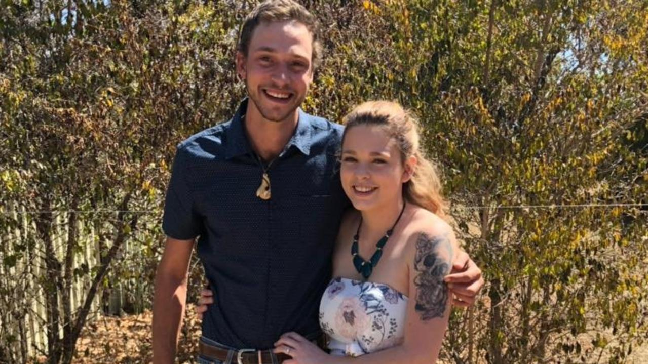 Connor Milne, who was killed while working at a quarry near Clermont in November 2018, with his partner Shannea Farrier.