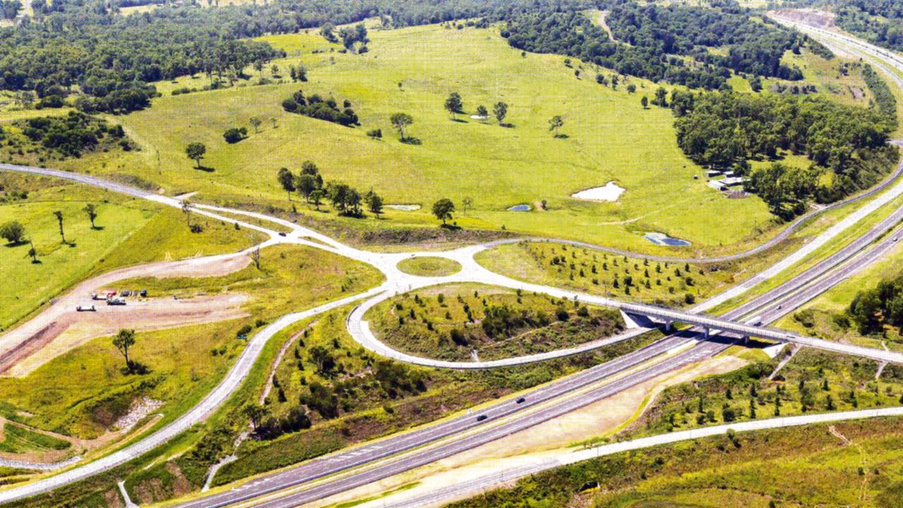 Bruce Highway Upgrade Cooroy to Curra. Section D aerial.