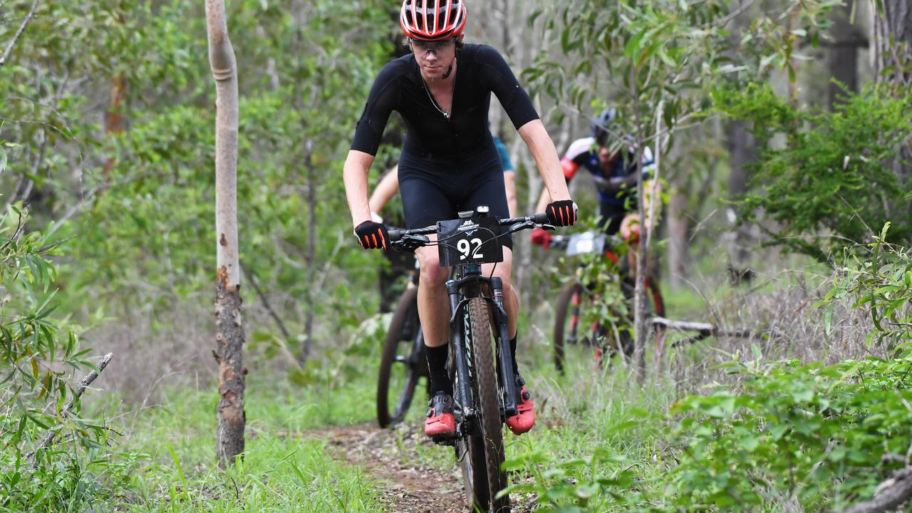POWERING ON: Cameron Mellifont was third in the solo male category at the Rockhampton Mountain Bike Club's three-hour cross country.