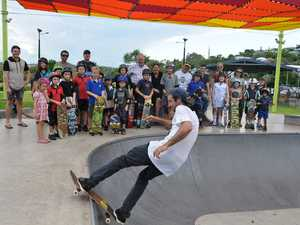Skate Pro Theo George at the current Yeppoon Skate