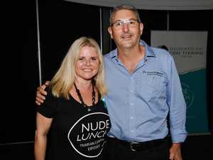 Sonia Crowley and Tony Caruso attended the Nude Lunch