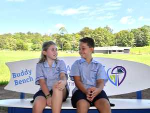 Asha Oliver and Lachlan Dean on the Buddy Chair at