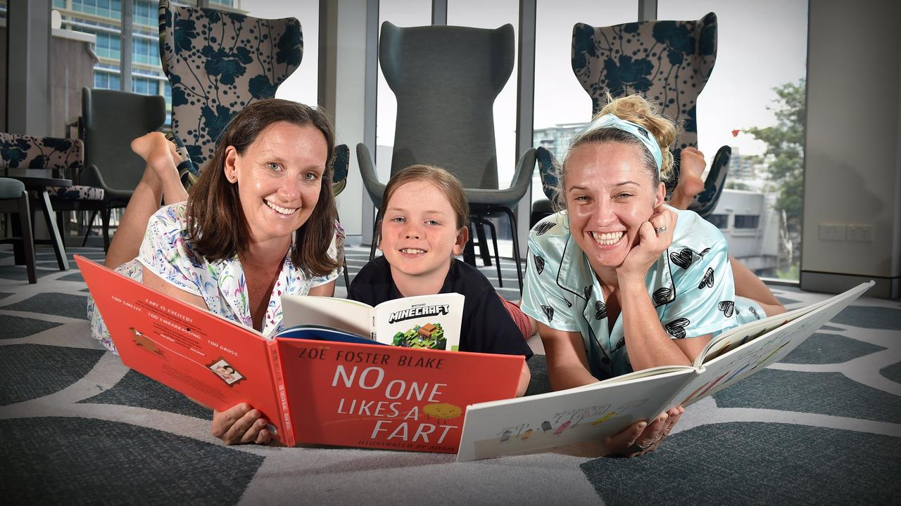 GIVING BACK: The Pyjama Foundation's Battle of the Brain's trivia night is coming up at the Maroochy RSL to raise money for kids in the foster system. Kathryn and Henry Stevens, 7, with Nikkii Joyce getting ready for last year's event.
