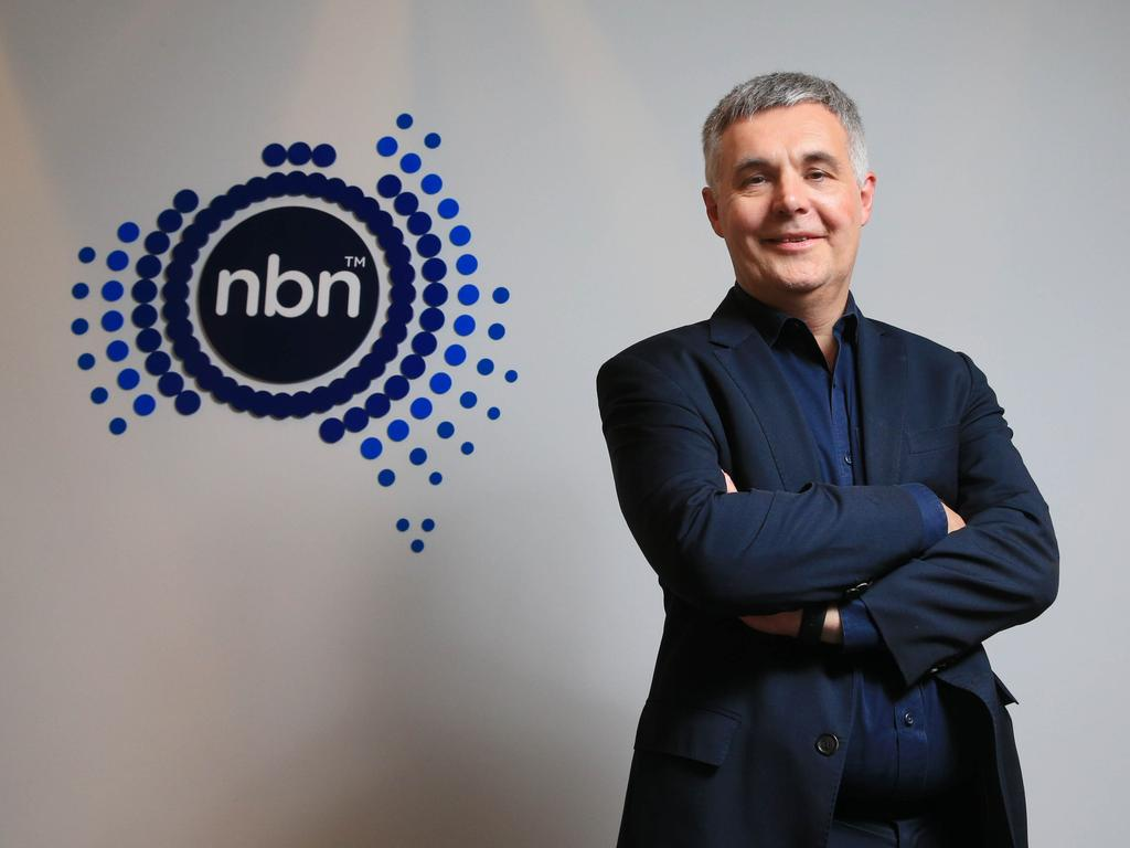 NBN CEO Stephen Rue says people should focus more on what the NBN could do for society. Picture: Aaron Francis/The Australian