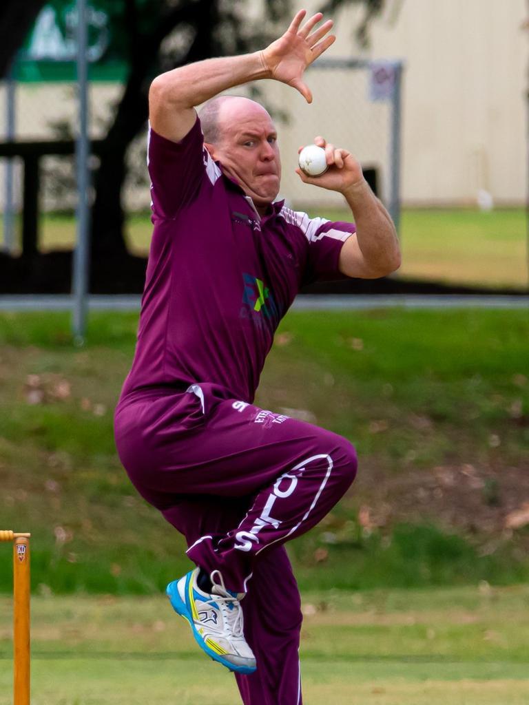 Gympie Regional Cricket Association – Colts v Murgon – Colts spinner Andrew 'Chappy' Mallett.