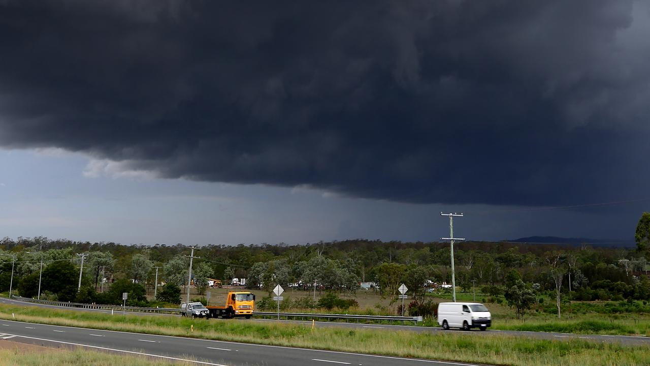 Storms will smash southeast Queensland this morning. Picture: AAP/David Clark