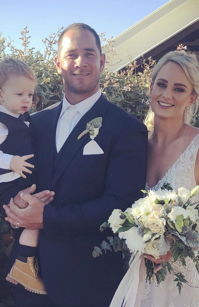 Amanda (Lawton) Conlon from her wedding day. Picture: Supplied
