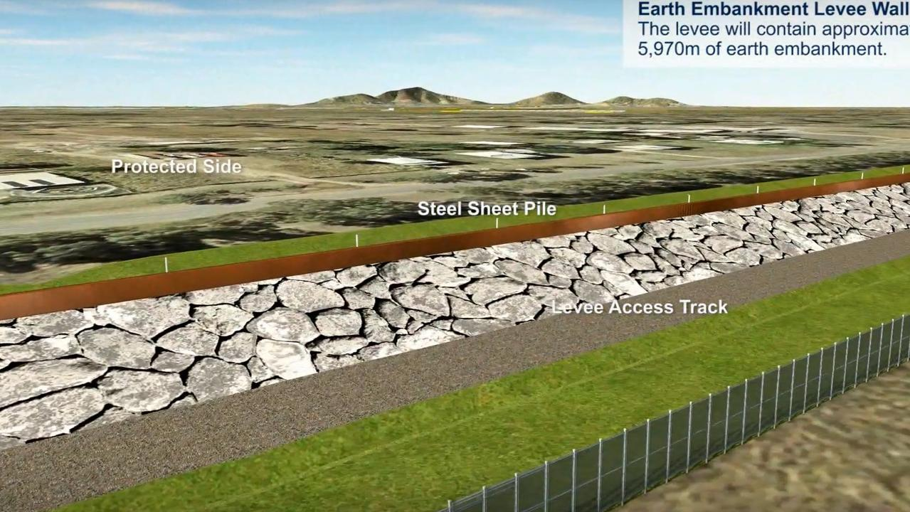 CONCEPT IMAGES: This is a visualisation of how South Rockhampton Flood Levee was expected to appear.