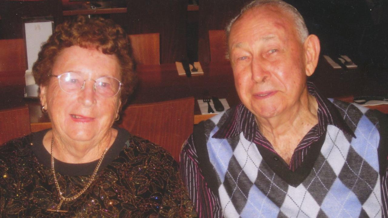 LOVED: Hazel Erbacher pictured with her husband Bill Erbacher was farewelled on February 29.