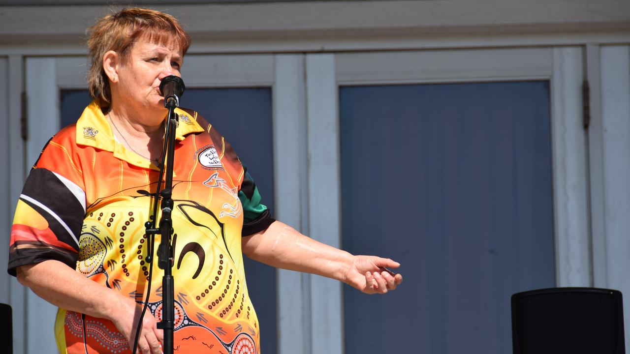 Rhonda Trivett at the South Burnett Peace of Mind mental health awareness morning. Photo: Tobi Loftus