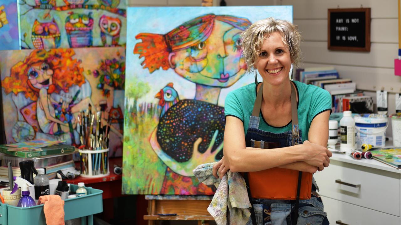 Artist Teresa Mundt in her studio.