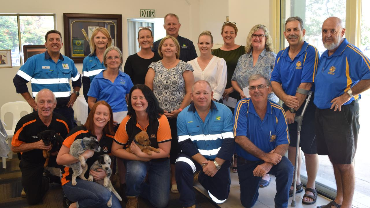 HELPING HAND: Kestrel Coal donated a total of $20,000 to four organisations including Emerald Neighbourhood Centre, Yumba Bimbi Support Services, Central Highlands Wildlife Carers and CQ Pet Rescue.