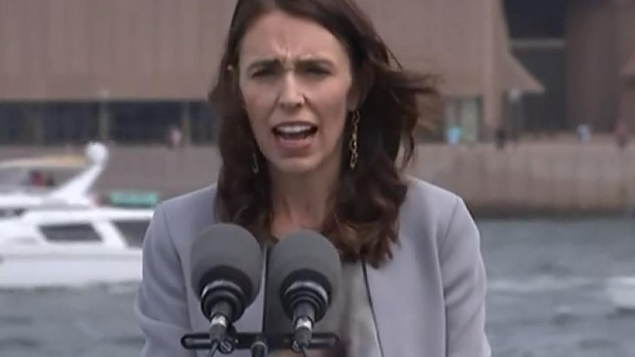 New Zealand PM Jacinda Ardern issued a blunt message to Australia this afternoon – while Scott Morrison stood right next to her.