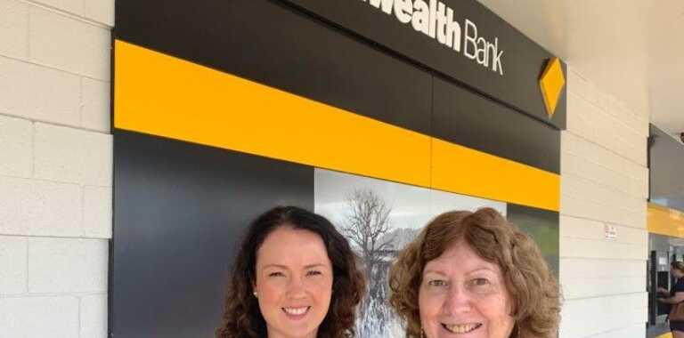 Booval Fair relieving branch manager Jade Lohman and customer service representative Jeanette Colebourne is hoping to see a big turnout at the branch's upcoming staying safe online seminar on March 12.