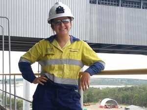 Female tradie proves strength in smashing gender norms