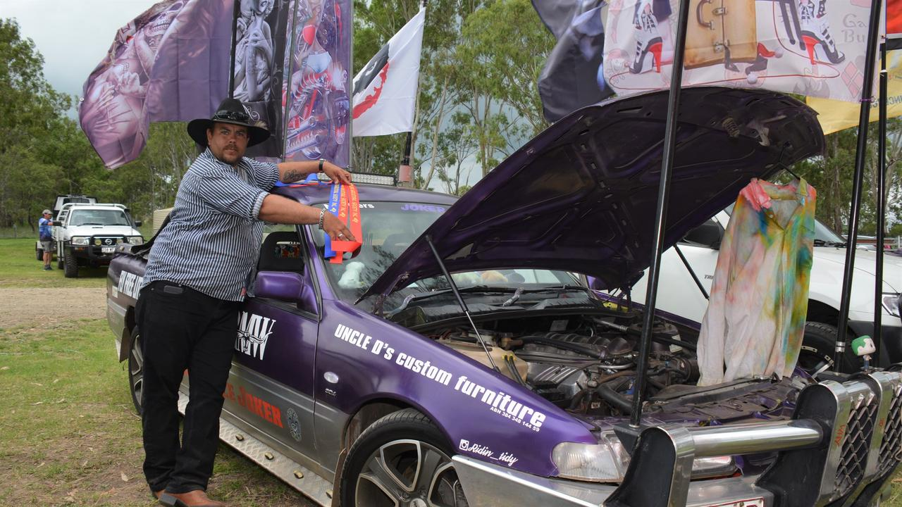 Darryl Chapman with his award-winning ute at the Cooyar Show.
