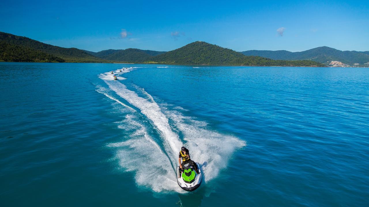 ESCAPE: Jeremy Drake, Airlie Beach – Whitsunday Jetski Tours. Picture: Tourism Whitsundays