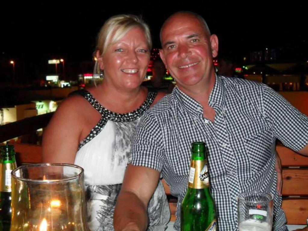 Christopher Swales with wife Deborah.