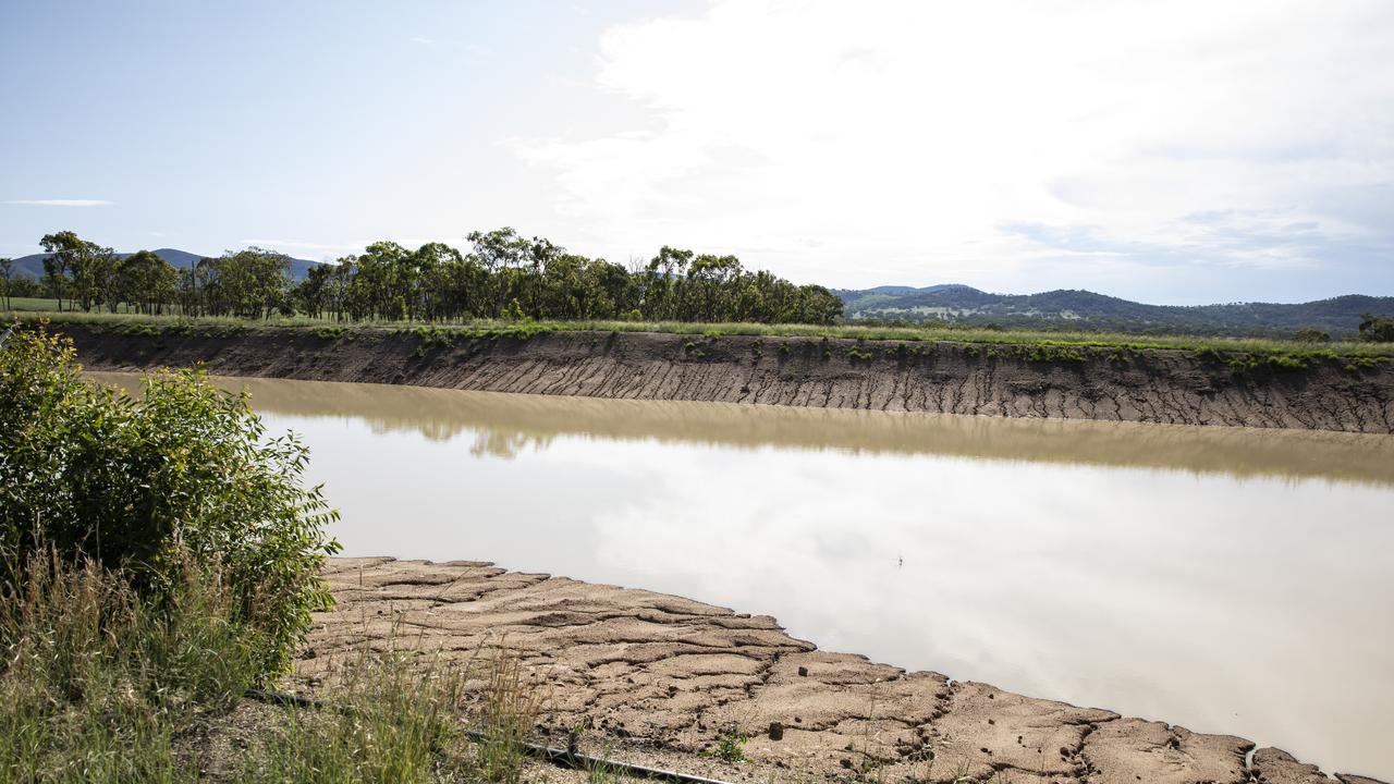 Golden Grove Estate's dam in February 2020. Picture: Mark Cranitch