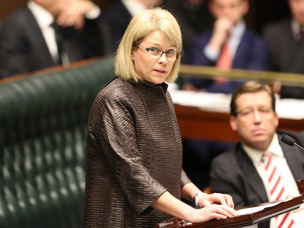 Katrina Hodgkinson during her time in NSW parliament. Picture: Craig Greenhill