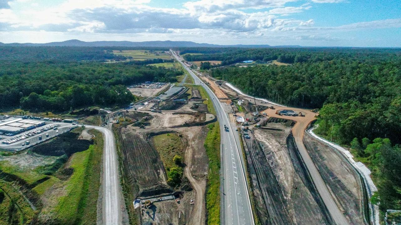 The Woolgoolga to Ballina highway upgrade will cost $4.3 billion and will be finished in 2020. Picture by Luke Marsden.