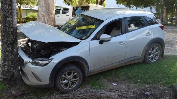 Stolen car found crashed into tree as offender flees scene