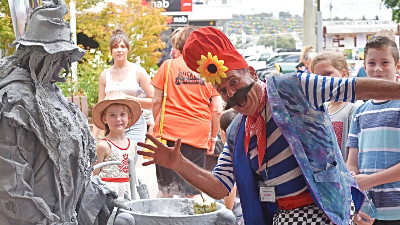 There's certainly some colourful characters getting around the main street of Stanthorpe.