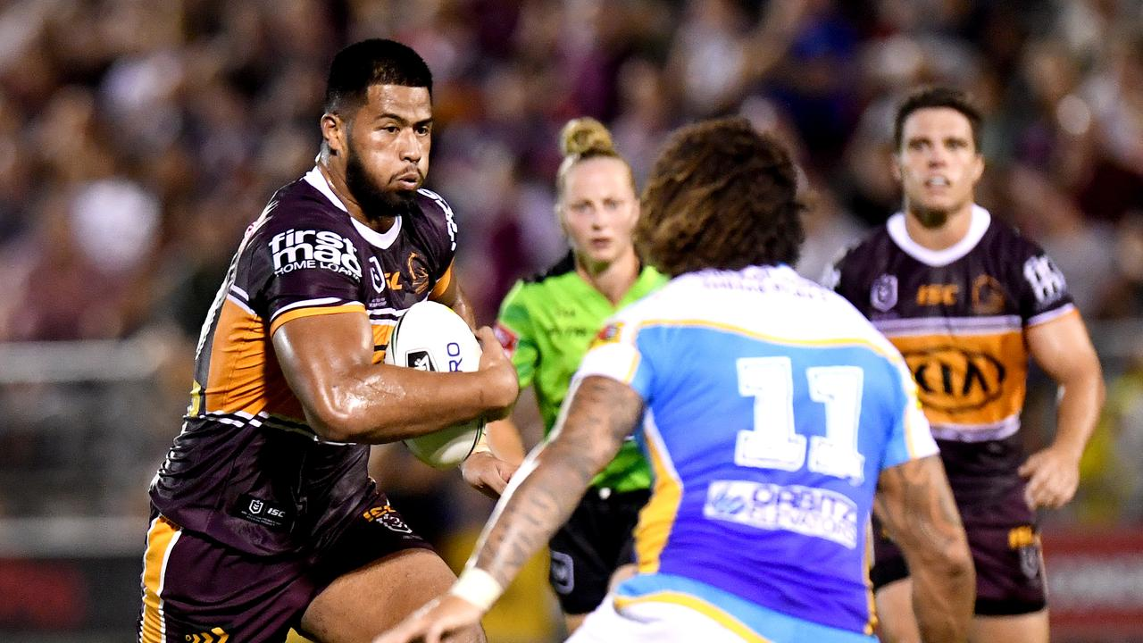 Payne Haas was superb for the Broncos but needs support. Picture: Getty Images