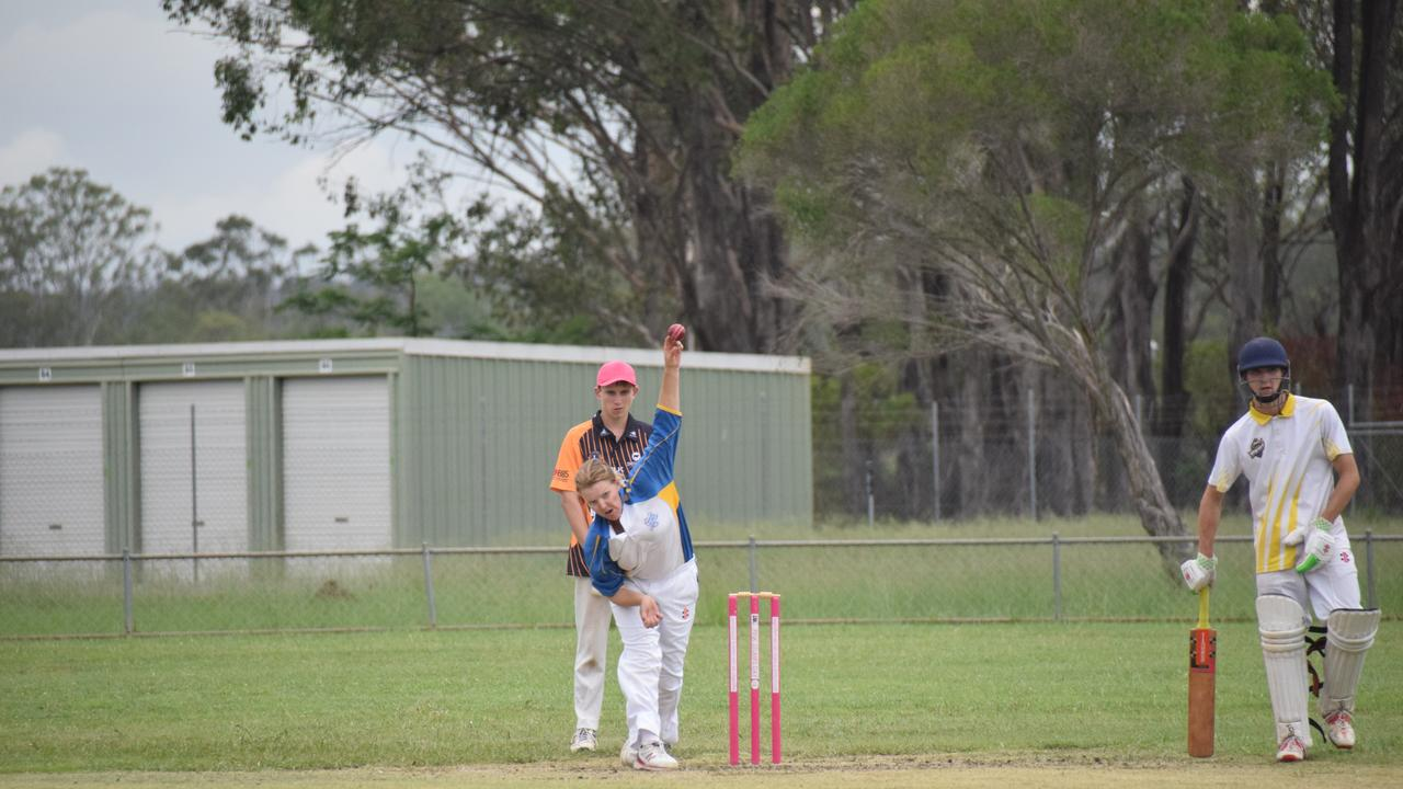 FAST BOWL: Irvine knows how to take a wicket, taking 13 for Murgon already this season. (Picture: Tristan Evert)