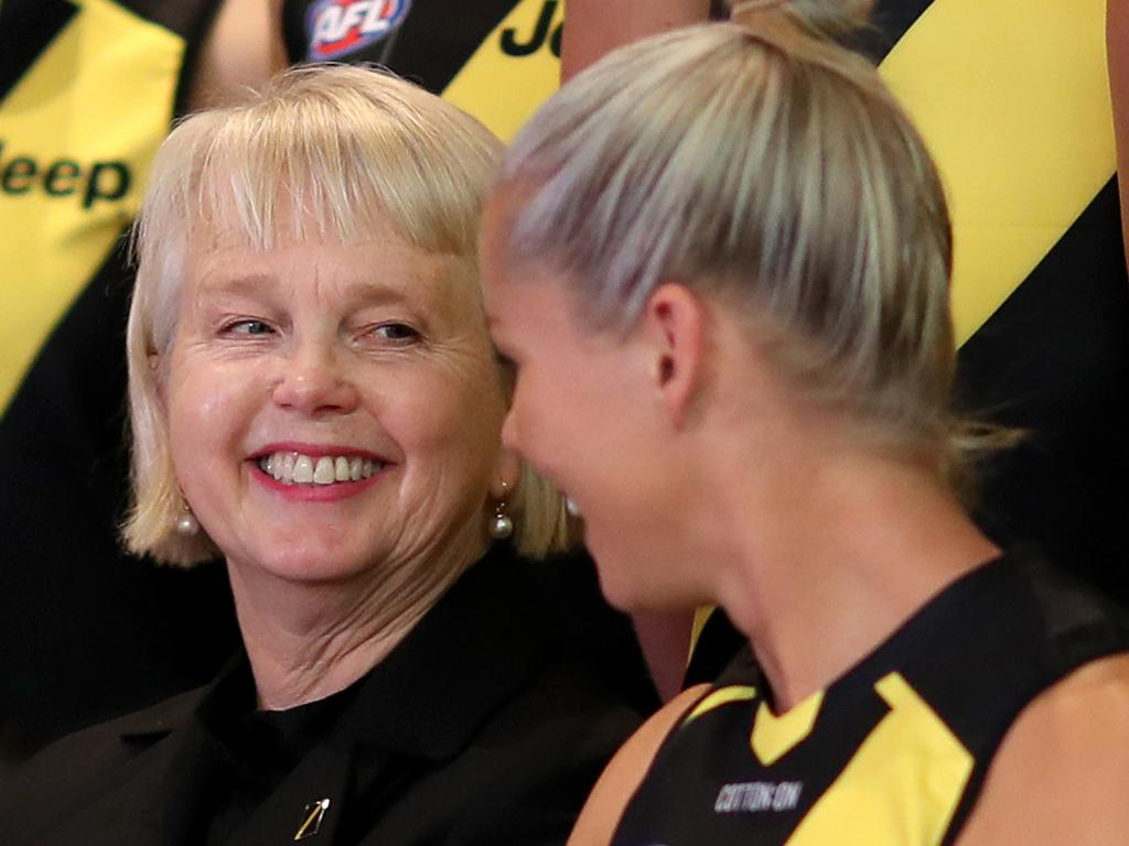 Powerhouse president … Peggy O'Neal shares a laugh with Richmond's Katie Brennan.