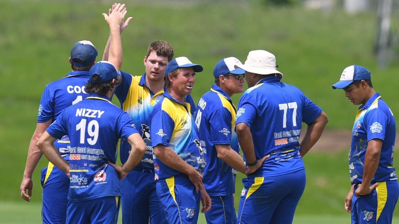 Colts vs Kenilworth Preliminary Final – Kenilworth celebrate a wicket. Picture: Shane Zahner