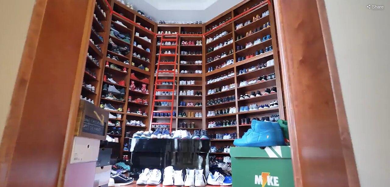 A sneakerheads' dream closet.