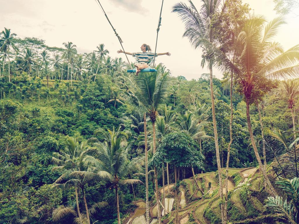Ubud's famous Tegalalang selfie swing. Picture: Supplied