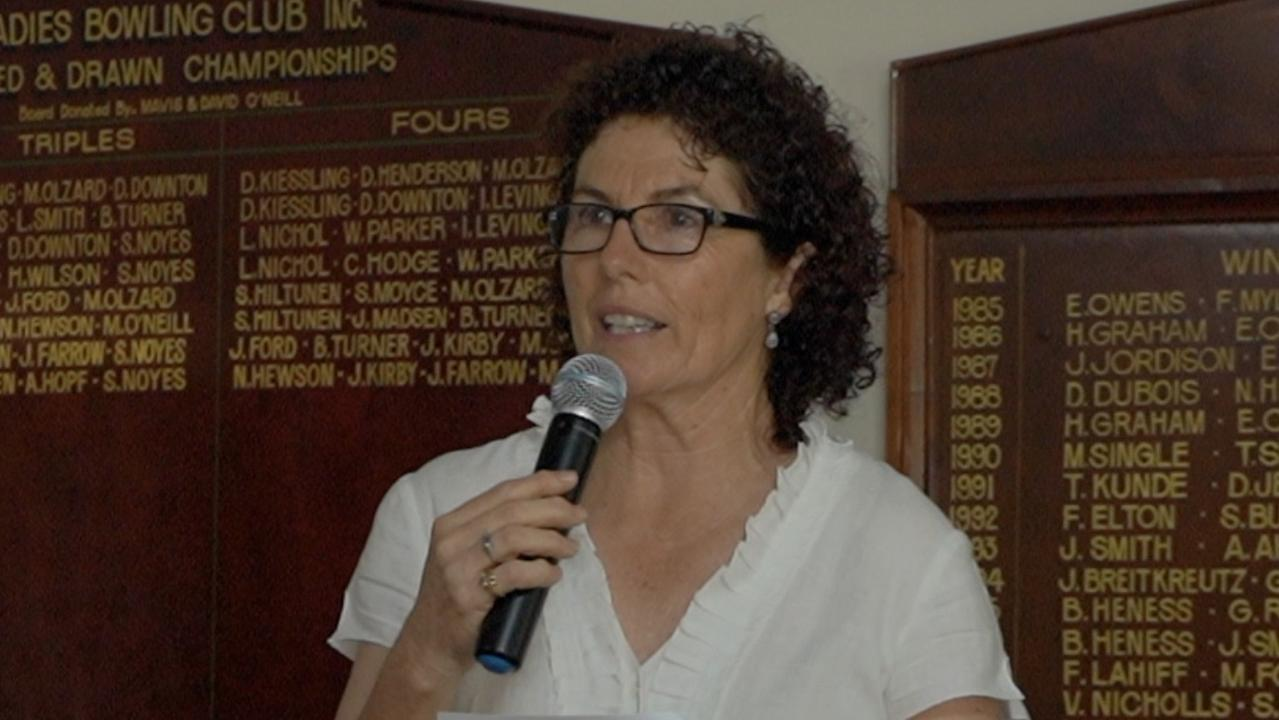 Kilkivan & District Community Care Association president Rosie Fitzgerald speaks at the meeting on Thursday.