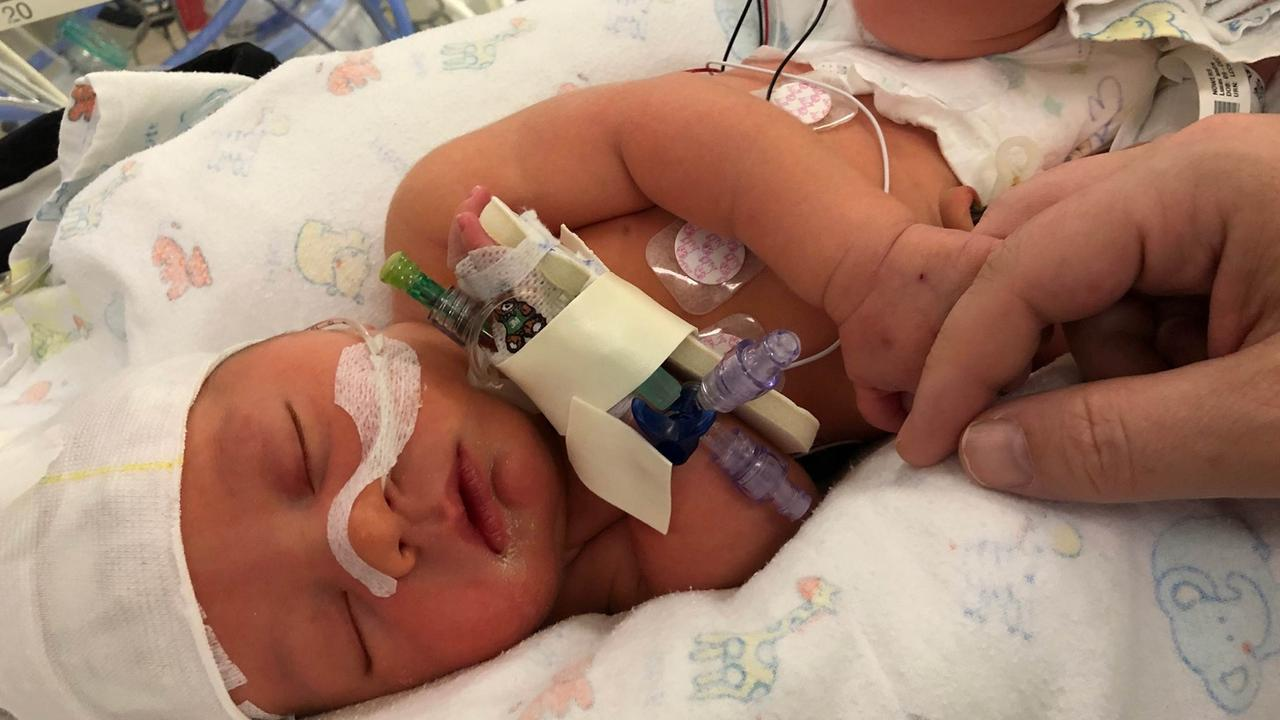 Baby Lucas had a normal birth until his body unexpectedly twisted in his mother's arms, sparking every parent's worst nightmare.