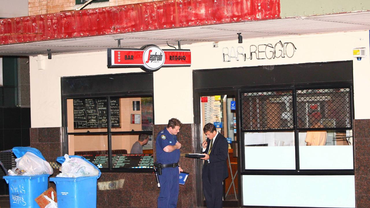 Police investigate Bandido bikie Rodney Monk's shooting. Picture: Bill Hearne