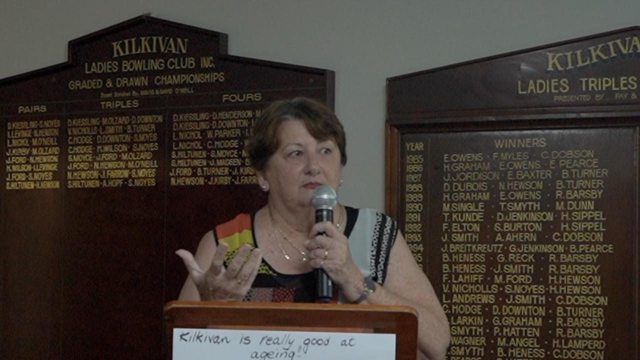 Guest speaker Robyn Kross at the Kilkivan & District Community Care Association meeting on Thursday.