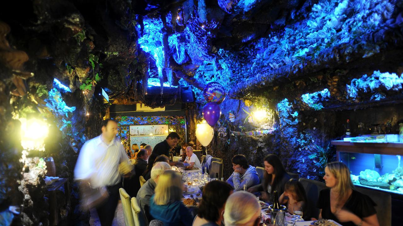 Gangster haunt... The Grotta Capri restaurant at Kensington where Underbellywas filmed.