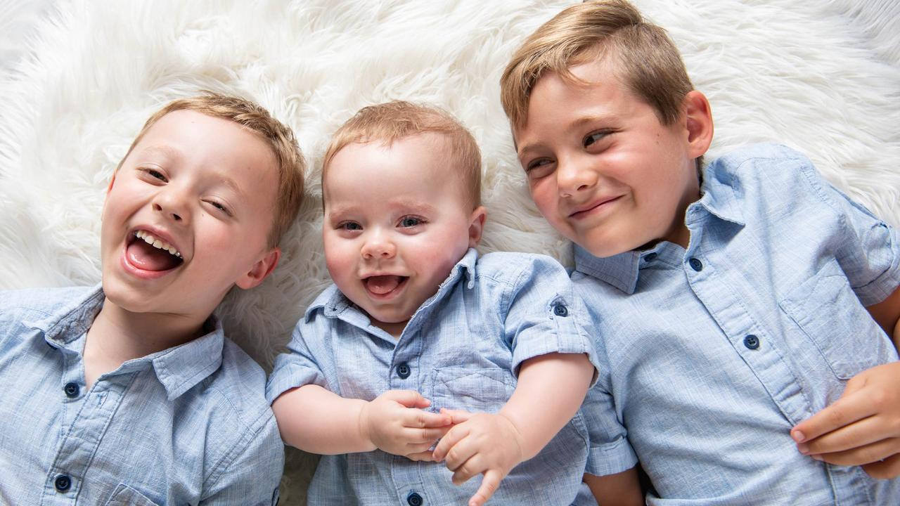 Lucas is an incredibly happy baby who is adored by his older brothers Callum and Ashton. Picture: Supplied.