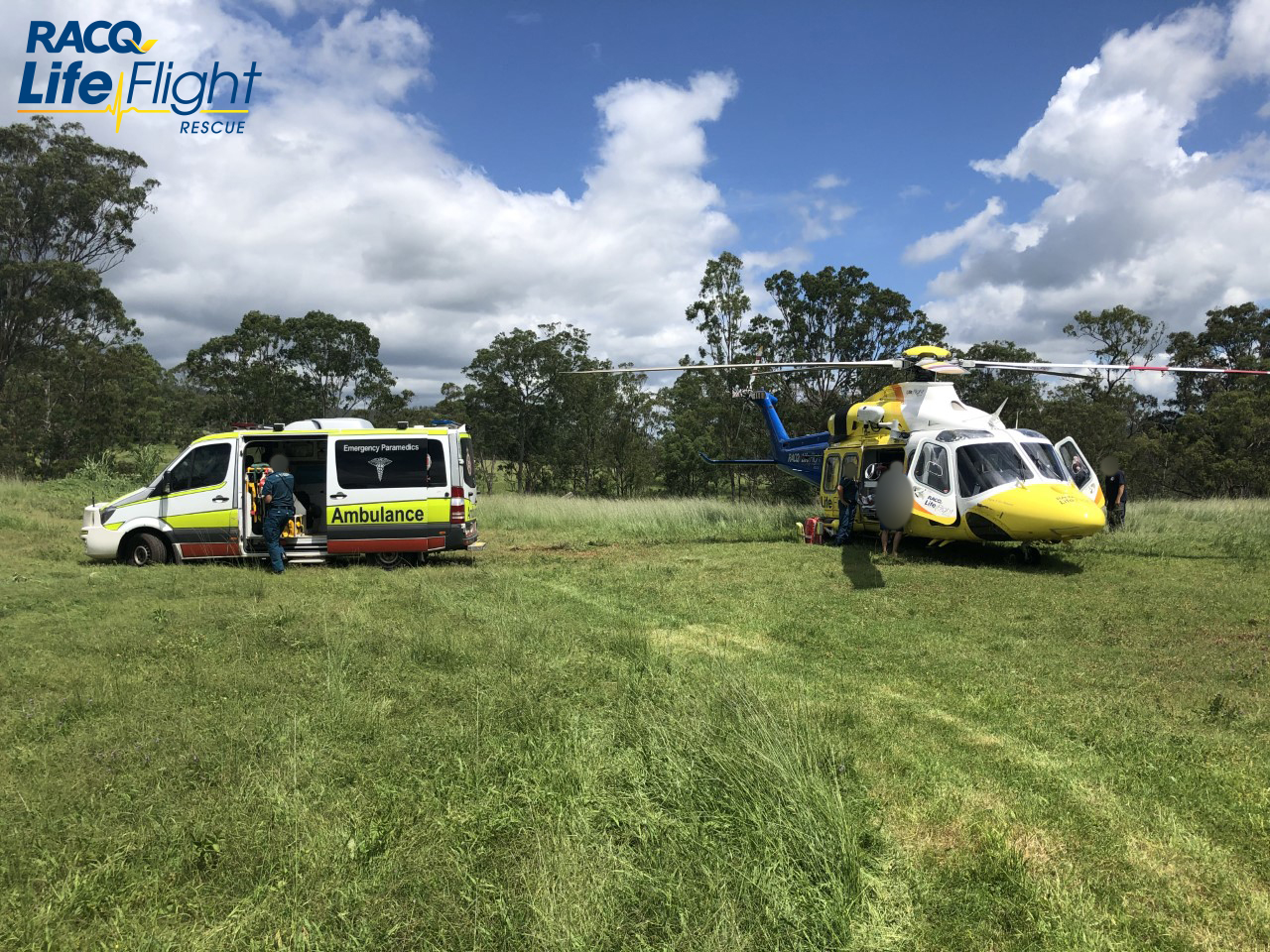 Rescue chopper treats teenager at incident in Southern Downs.