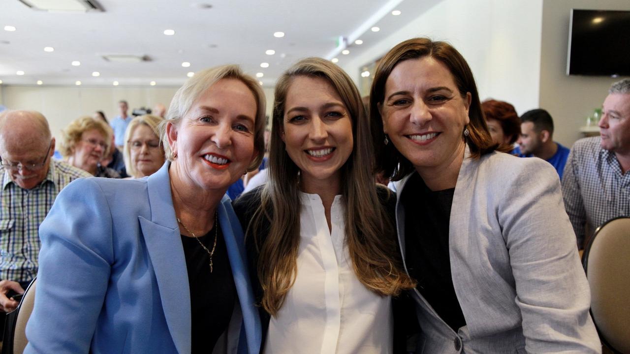 Shadow Health Minister Ros Bates, LNP Currumbin candidate Laura Gerber and LNP Queensland Leader Deb Frecklington were all in attendance. Photo: Ashleigh Weidmann