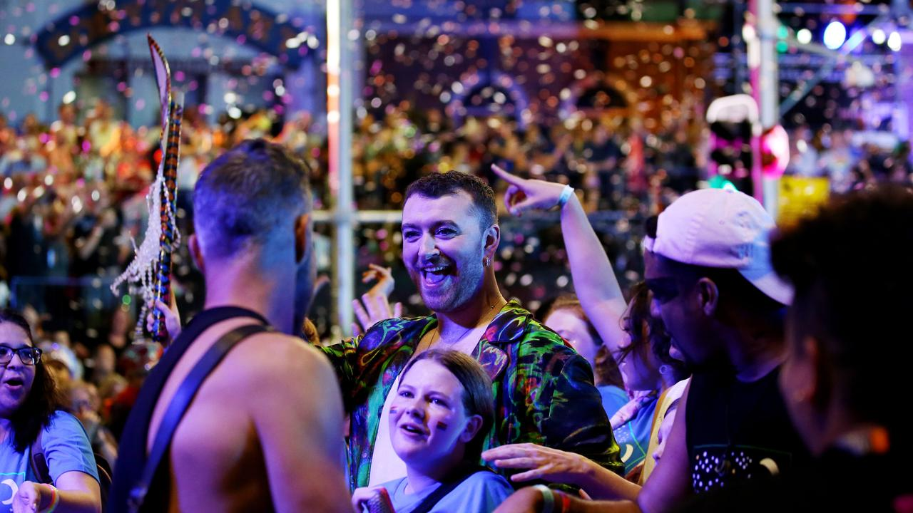English singer Sam Smith performed at the after-party. Picture: Nikki Short