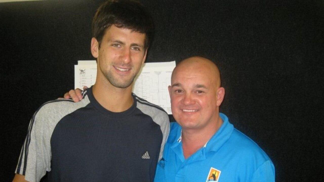 Novak Djokovic with Philip Rule.