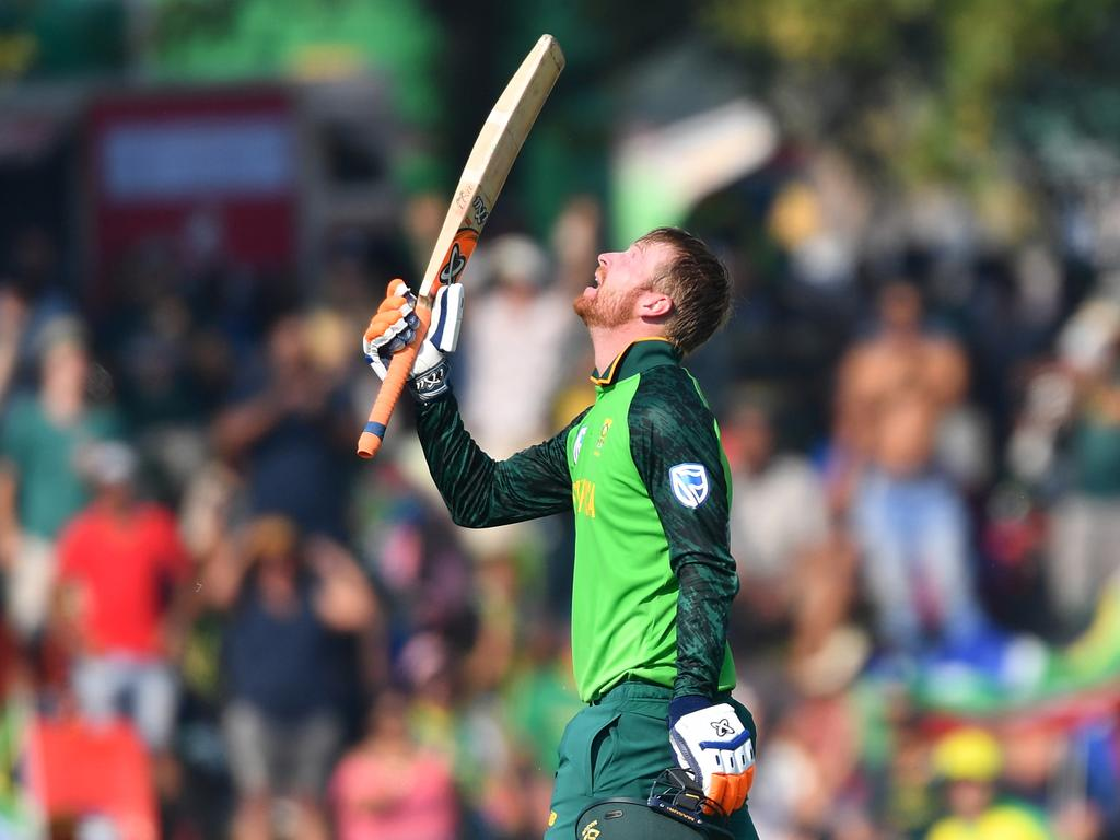 Heinrich Klaasen of South Africa celebrates scoring his maiden century. Picture: Ashley Vlotman/Gallo Images via Getty Images