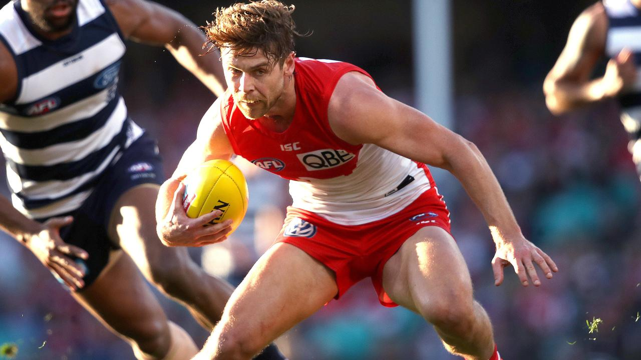 Dane Rampe in action for the Swans. Picture: Phil Hillyard