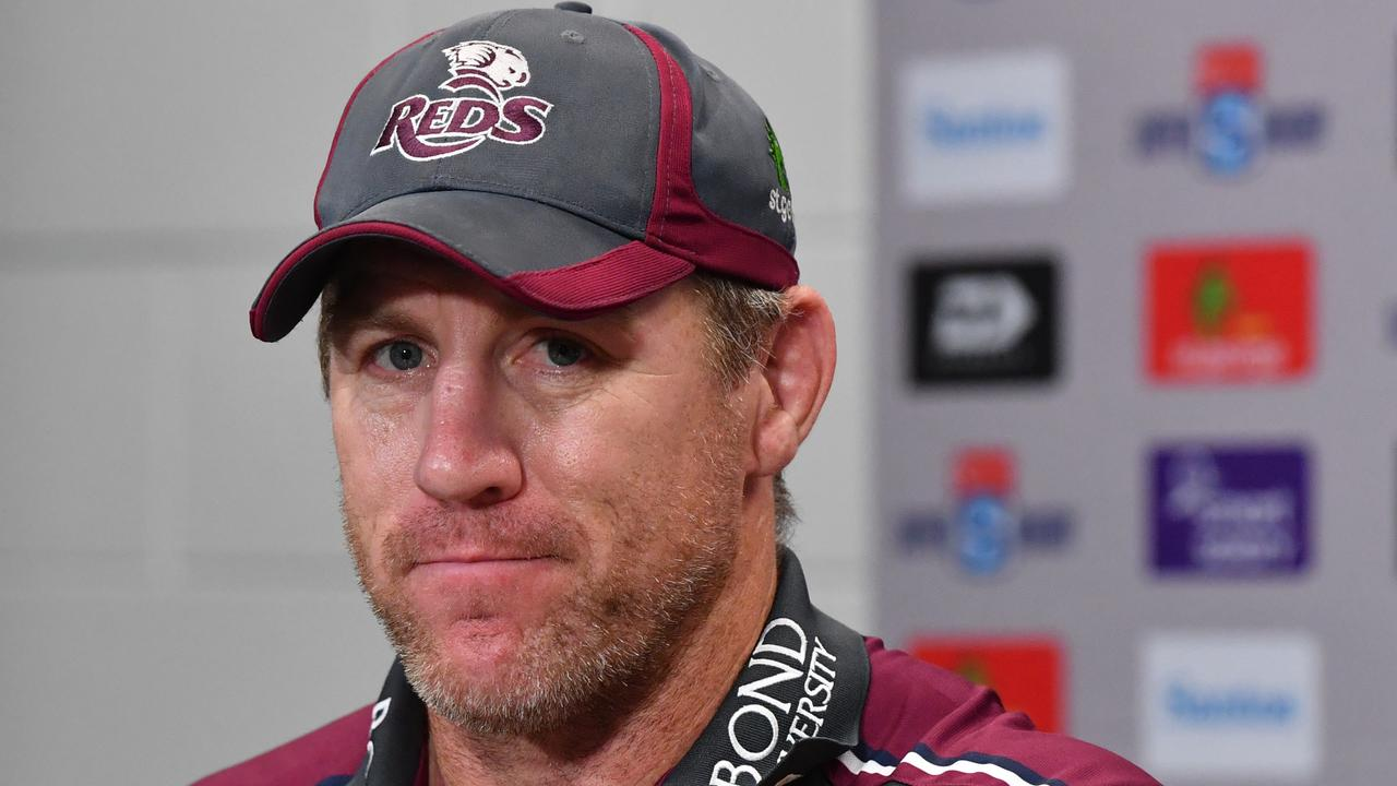 Reds coach Brad Thorn after the match. Picture: AAP
